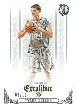 2014-15 Panini Excalibur Gold #124 Tyler Zeller /10 (Celtics)