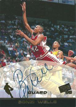 1998 Press Pass Autographs #35 Bonzi Wells