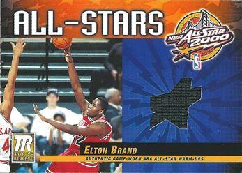 2000-01 Topps Reserve Game Jerseys #TAS30 Elton Brand B