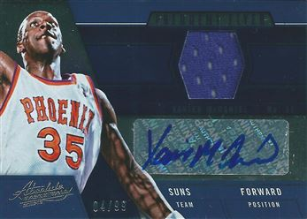 2012-13 Absolute Frequent Flyer Materials Autographs #22 Xavier McDaniel/99 (Suns)