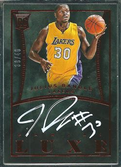 2014-15 Panini Luxe Autographs #41 Julius Randle/40 (Lakers)