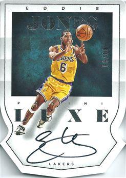 2014-15 Panini Luxe Die Cut Autographs #100 Eddie Jones/60 (Lakers)