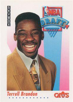 1991-92 SkyBox #523 Terrell Brandon RC