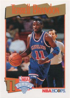 1991-92 Hoops #556 Terrell Brandon RC