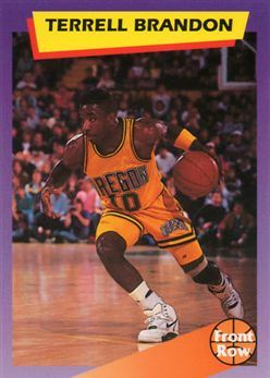 1992 Front Row Dream Picks #97 Terrell Brandon/Career Highlights