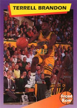 1992 Front Row Dream Picks #98 Terrell Brandon/NBA All-Rookie Team