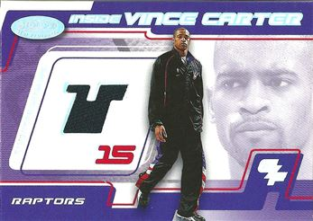 2001-02 Hoops Hot Prospects Inside Vince Carter #3 Vince Carter WARM/800