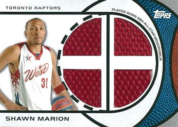 2009-10 Topps All-Star Relics Quad #ASQSM Shawn Marion (RED / RED / RED / RED)