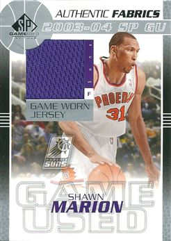 2003-04 SP Game Used Authentic Fabrics #MAJ Shawn Marion