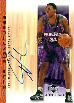 2000-01 Upper Deck Encore Star Signatures #SM Shawn Marion