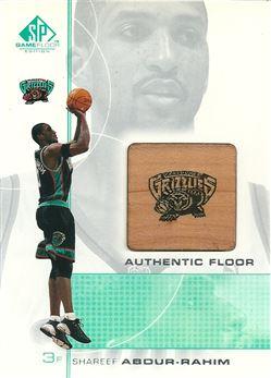 2000-01 SP Game Floor Authentic Floor #SA Shareef Abdur-Rahim