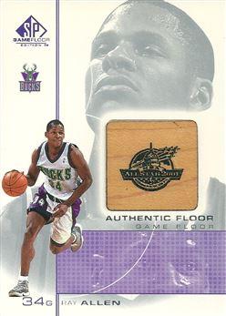 2000-01 SP Game Floor Authentic Floor #RA Ray Allen
