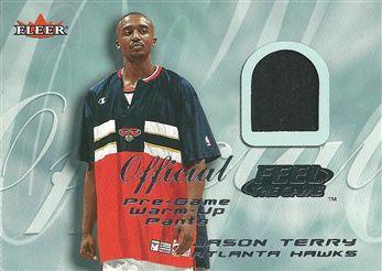 2000-01 Fleer Feel the Game #33B Jason Terry Warm-Up