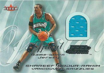 2000-01 Fleer Feel the Game #1B Shareef Abdur-Rahim Blue