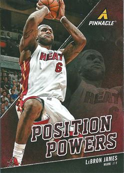 2013-14 Pinnacle Position Powers #9 LeBron James (Heat)