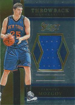 2017-18 Select Throwback Memorabilia #34 Timofey Mozgov (Knicks)