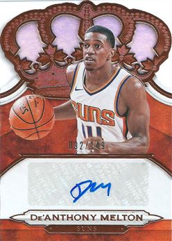 2018-19 Crown Royale Crown Autographs Rookies #10 De'Anthony Melton (Suns)
