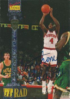 1994 Signature Rookies Tetrad Autographs #53 Anthony Goldwire