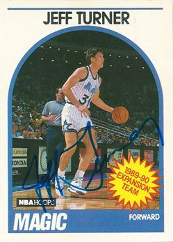 1989-90 Hoops #322 Jeff Turner (Signed in person)