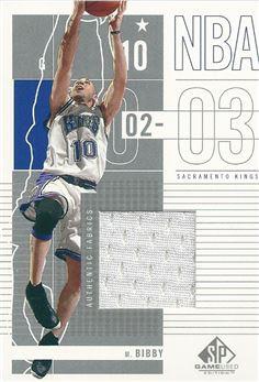 2002-03 SP Game Used #83 Mike Bibby JSY(Kings)