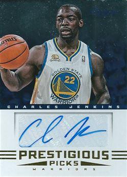 2012-13 Prestige Prestigious Picks Signatures #37 Charles Jenkins (Warriors)