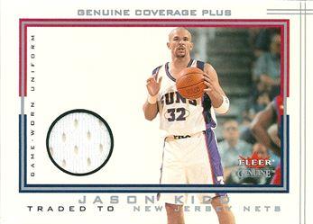 2001-02 Fleer Genuine Coverage Plus #13 Jason Kidd (Suns-Nets)