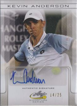 2017 Leaf Signature Series Tennis National Pride Autographs Silver #NPKA1 Kevin Anderson/25