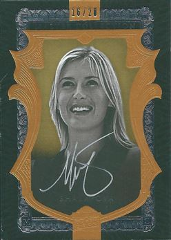 2016 Upper Deck All-Time Greats Master Collection Autographs Gold #MCMS Maria Sharapova