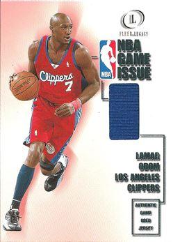 2000-01 Fleer Legacy NBA Game Issue #GI13 Lamar Odom