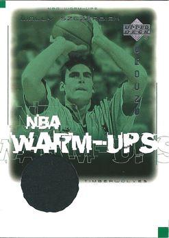 2000-01 Upper Deck Encore NBA Warm-Ups #WSW Wally Szczerbiak