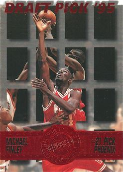 1995 Press Pass Die Cuts Red #19 Michael Finley