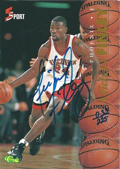 1995 Classic Five Sport Autographs Numbered #19 Michael Finley/225