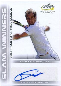2017 Leaf Signature Series Tennis Slam Winners Autographs #SWRG1 Richard Gasquet