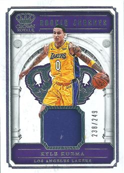 2017-18 Crown Royale Rookie Jerseys #36 Kyle Kuzma (Lakers)