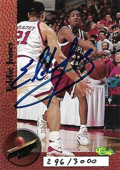 1995 Superior Pix Autographs #9 Eddie Jones/3000