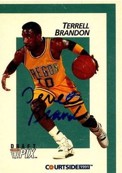 1991 Courtside #6 Terrell Brandon (Signed in Person)