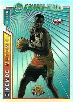 1996-97 Topps Mystery Finest Bordered Refractors #M11 Dikembe Mutombo (Hawks)