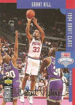 1994-95 Collector's Choice Silver Signature #409 Grant Hill DC