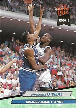 1992-93 Ultra #328 Shaquille O'Neal RC (Magic)