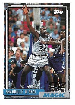 1992-93 Topps #362 Shaquille O'Neal RC (Magic)