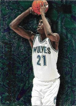 1995-96 Metal Tempered Steel #4 Kevin Garnett (Timberwolves)