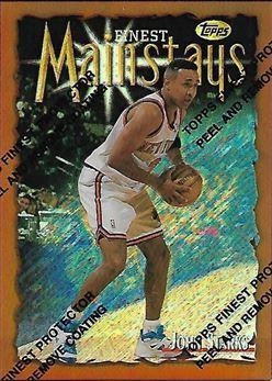 1996-97 Finest Refractors #187 John Starks B