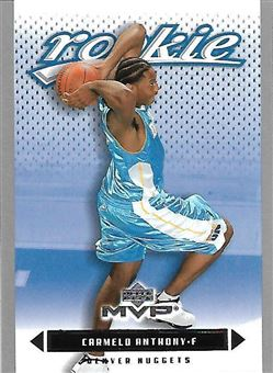 2003-04 Upper Deck MVP Silver #203 Carmelo Anthony (Nuggets)