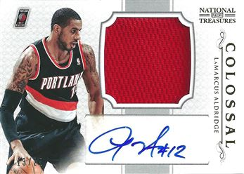 2012-13 Panini National Treasures Colossal Materials Signatures #4 LaMarcus Aldridge/25