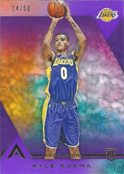 2017-18 Panini Ascension Purple #105B Kyle Kuzma /50 (Lakers)