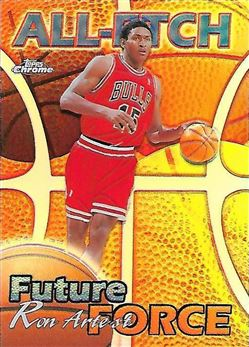 1999-00 Topps Chrome All-Etch Refractors #AE26 Ron Artest (Bulls)