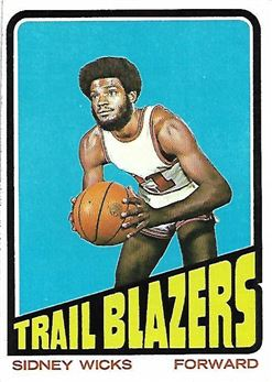1972-73 Topps #20 Sidney Wicks RC (Trail Blazers)