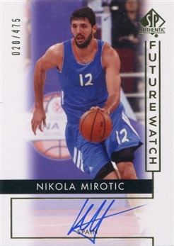 2014-15 SP Authentic #89 Nikola Mirotic AU/475