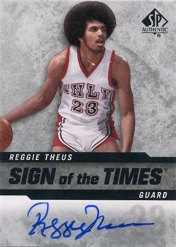 2014-15 SP Authentic Sign of the Times #SOTRT Reggie Theus