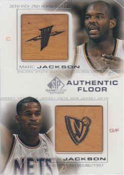 2000-01 SP Game Floor Authentic Floor Combos #C2 Marc Jackson/Stephen Jackson